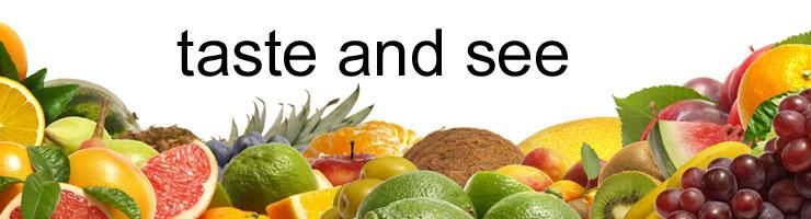 taste and see header